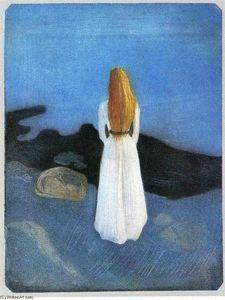 Fille à la plage - (Edvard Munch)