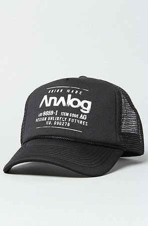 Analog The Expedition Trucker Hat in True Black : Karmaloop.com - Global Concrete Culture