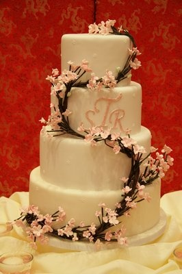 Cherry blossom wedding cake, my favorite example so far.