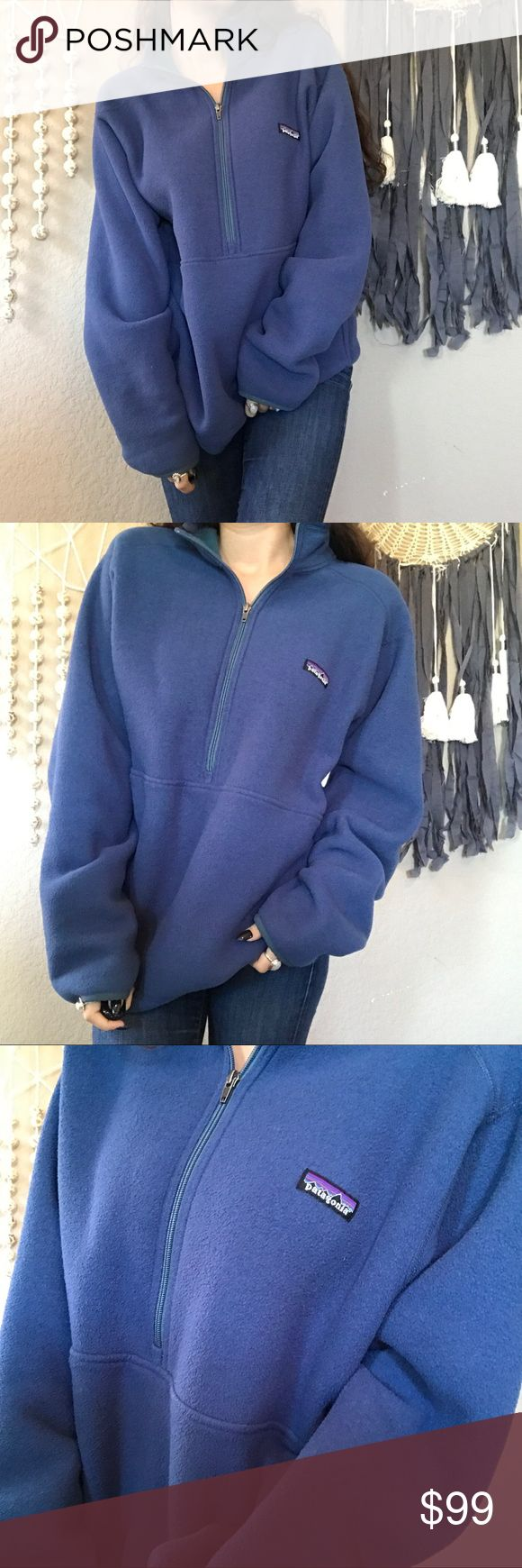 Patagonia half zip fleece pullover MENS SIZE L- listed as women's because this is how I wear it- and how many girls like to.  ⚡️NO trades  ⚡️open to ALL offers!  ⚡️ bundle for MAJOR discounts!  ⚡️feel free to ask any questions ⚡️ I will not respond to offers in the comments, please use the offer button for all offers.  ⚡️model is 5'7 and typically wears a small/26.  ⚡️All sales are final and all offers are binding.  ⚡️ If I miss your comment, please comment again! Patagonia Sweaters Cowl…