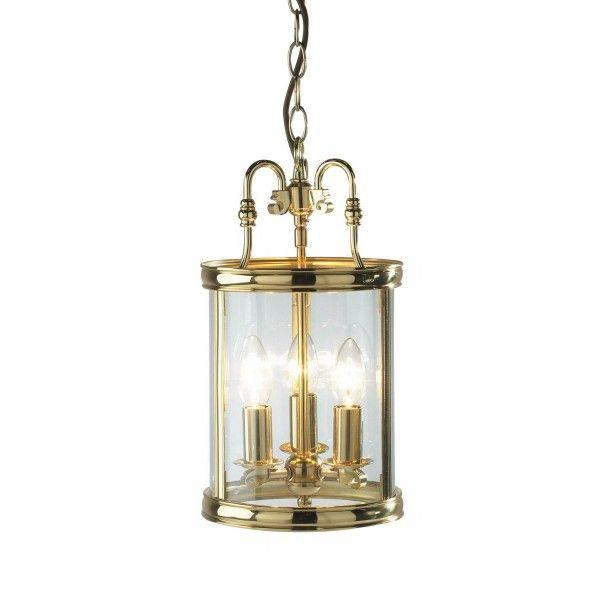 Lambeth Lantern Circular Hall Dual Mount Polished Brass - catalogue