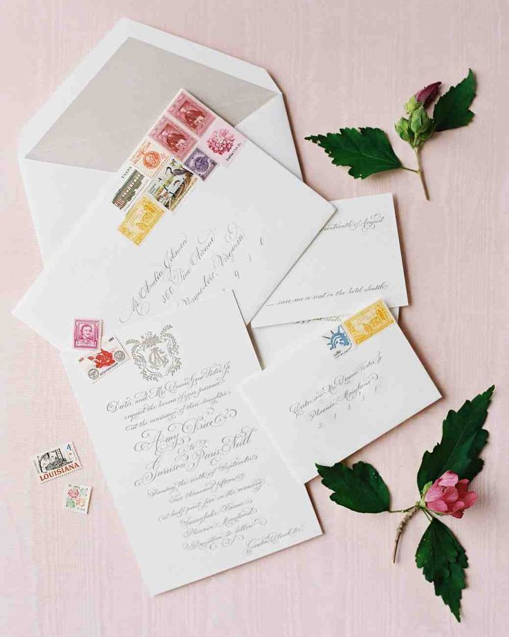 An Elegant Garden Wedding Near Baltimore. Vintage StampsMartha Stewart ...