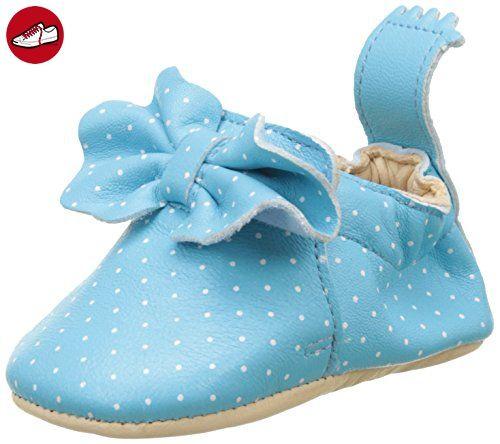 Easy Peasy Baby Mädchen Blumoo Noeud Krabbelschuhe, Bleu (Bleu Baby/Plumetis Blanc), 16-18 EU (*Partner-Link)