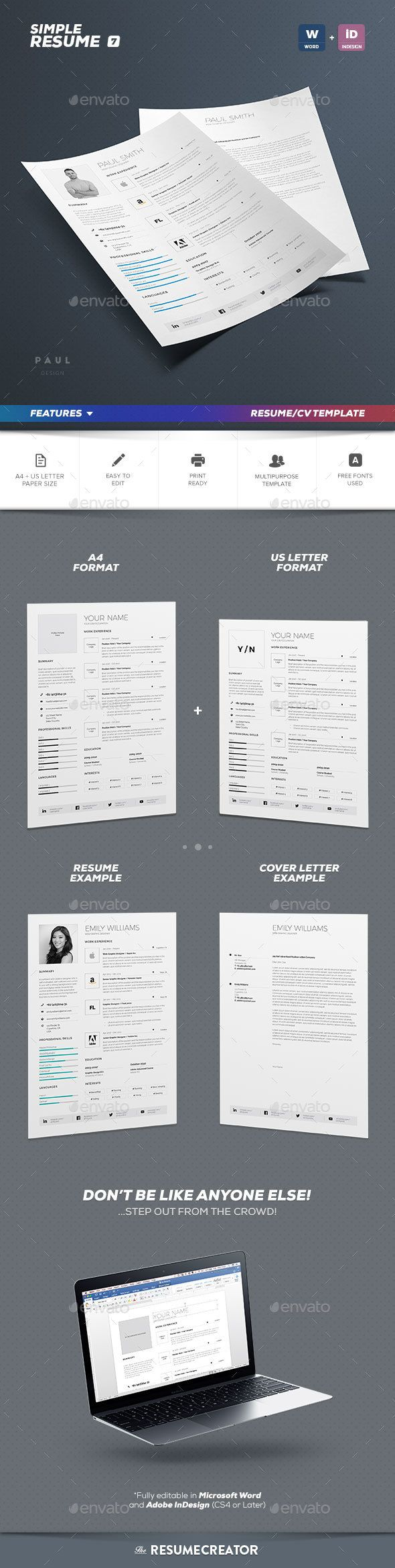 Clean Resume Download%0A Simple Resume Cv Volume