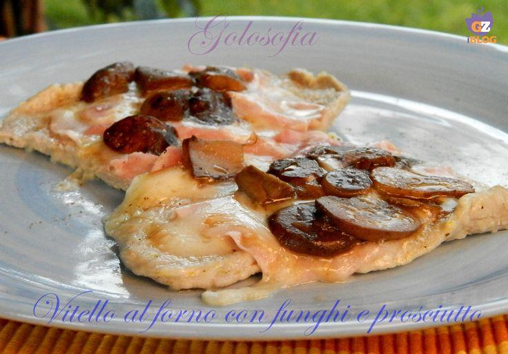 Vitello al forno con funghi e prosciutto, ricetta al cartoccio