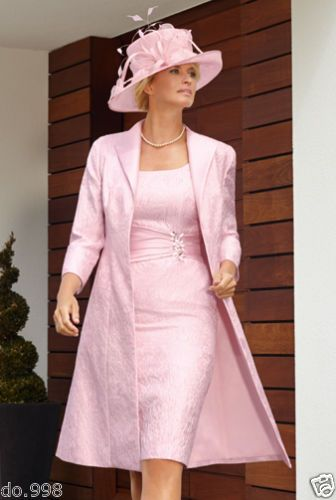 Pink Lace Mother Of The Bride Dresses 2015 Free Long Jacket Formal Evening Party