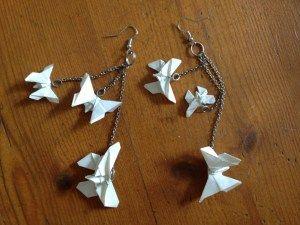 tuto boucles d oreille papillon en origami