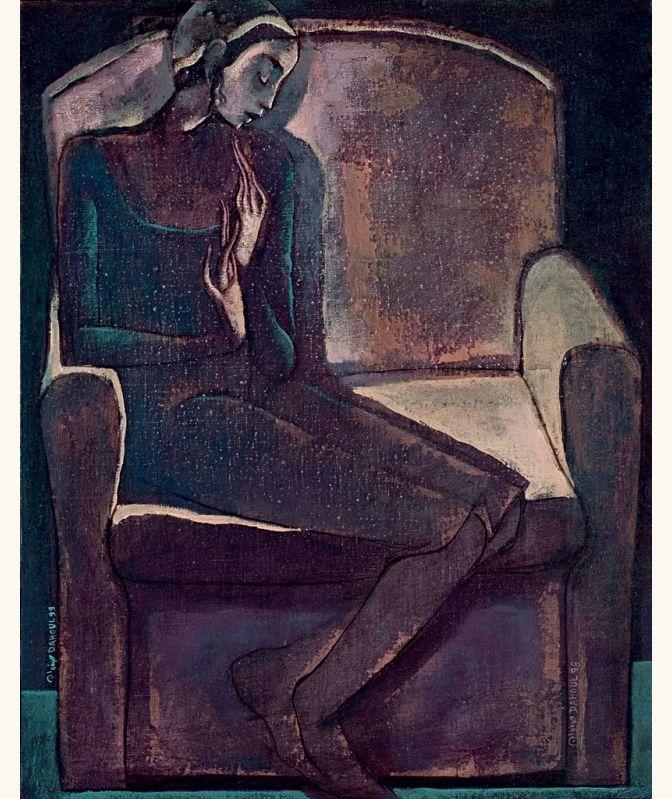 Woman sitting in armchair, 1990 - Safwan Dahoul (b. 1961)