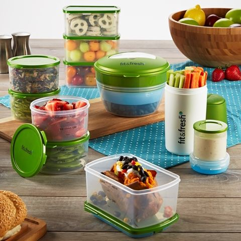 The Perfect Portion Kit is a complete set of reusable containers for eating correct portions - great for anyone trying to eat right and stay healthy! Visit www.Fit-Fresh.com to learn more  #fitfresh perfect portion