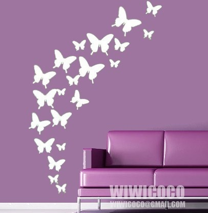 for girls rooms? cute idea....doesn't have to be butterflies.....  now I'm thinkin!!!