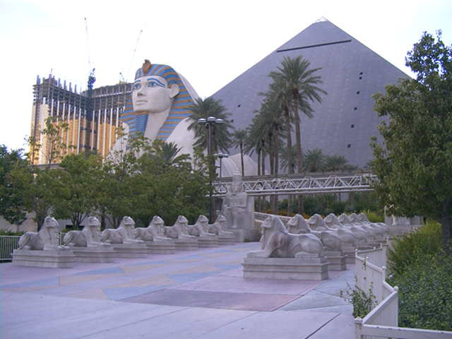 This is where we stayed  Luxor, Las Vagas