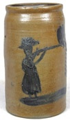 Morgantown, W.V. or Southwestern Pa. stoneware, woman firing gun#Repin By:Pinterest++ for iPad#