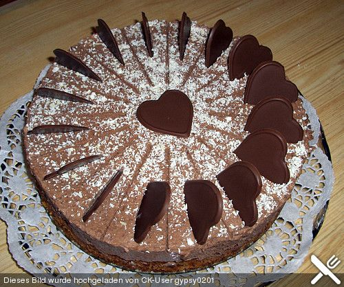 Milka herzen torte ohne ei