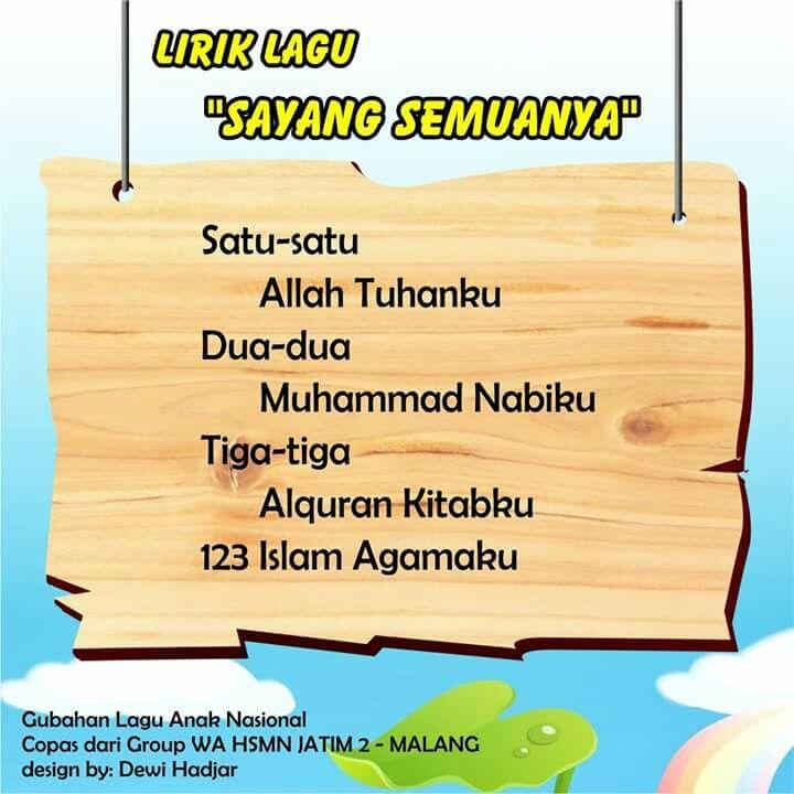 Sayang Semuanya versi 2 (original song by Pak Kasur)