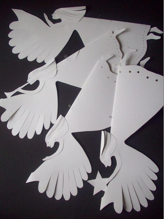 Paper AngelsFour White Paper Angels por LorenzKraft en Etsy