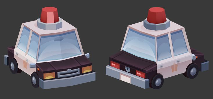 ArtStation - Low Poly Cop Car, Paul Chambers