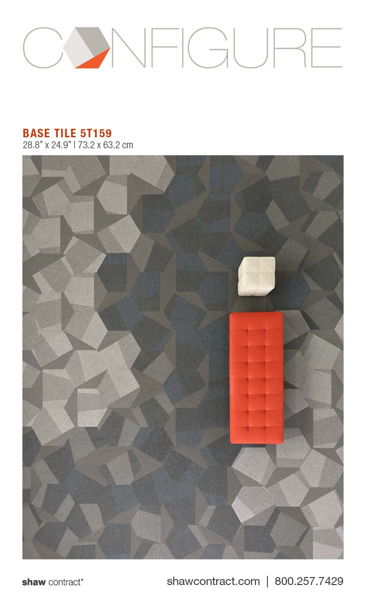 Style - Base Tile 5T159 - Colors - Proportion 59518 + Dialogue 59596  + Spatial 59597 -  Commercial hexagon carpet tile for interior design. Create social gatherings, floor patterns, and design office spaces. Configure hexagonal carpet tile: inspiring office carpet, commercial interiors and floors from Shaw Contract.