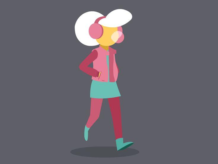 """""""Walking Girl"""" by Kristian Duffy for PaleBlueDot."""