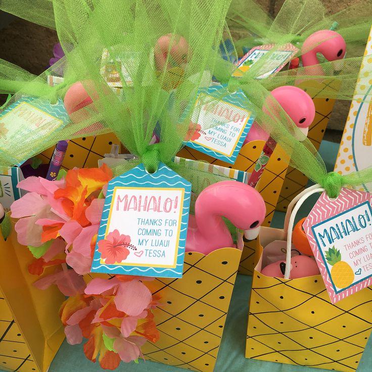 Luau party favors from LilacsandCharcoal Etsy shop