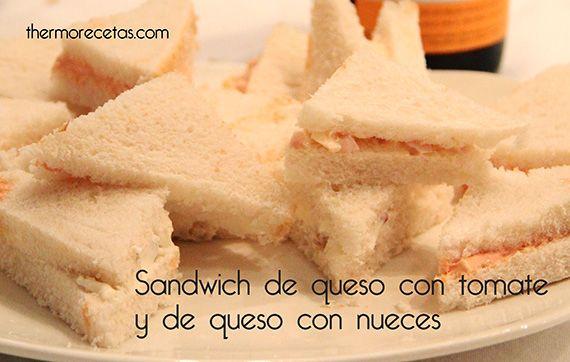 Sandwich de queso con tomate y sandwich de queso con nueces - http://www.thermorecetas.com/2014/01/21/sandwich-de-queso-con-tomate-y-sandwich-de-queso-con-nueces/