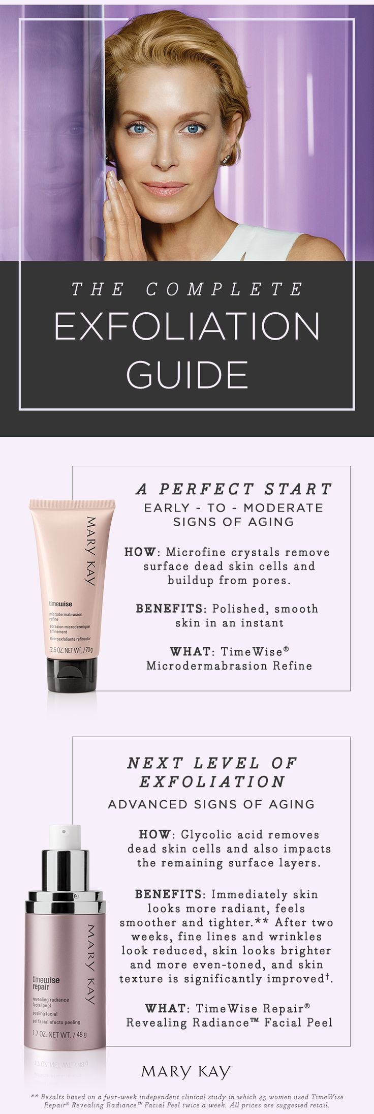 Exfoliation should be a key part of every woman's skin care regimen. It keeps skin healthy and helps with the skin's renewal process. | Mary Kay
