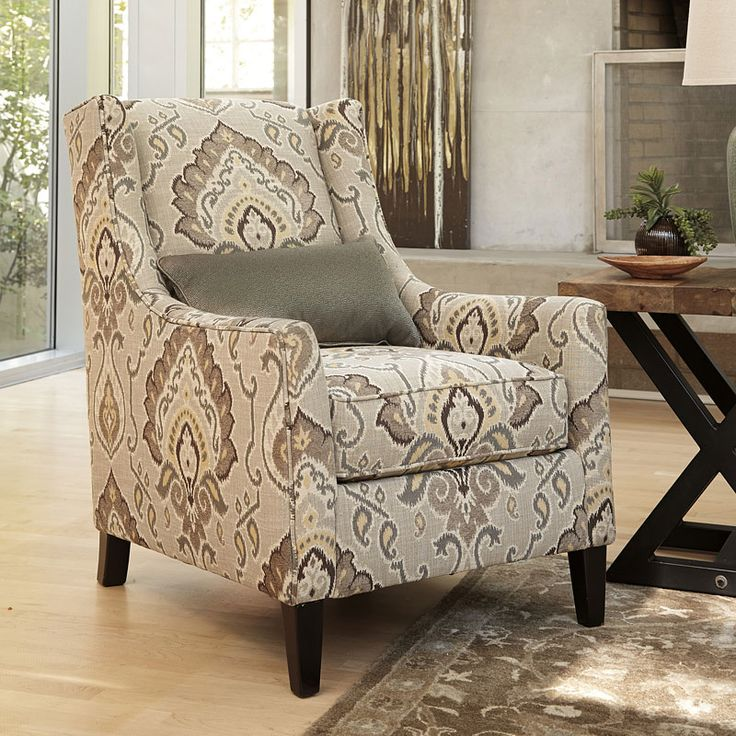 Living Room Chairs | Ashley Furniture HomeStore.  Coolly+patterned+upholstery+gives+the+Wilcot+Shale+Accent+ - 25+ Best Ideas About Ashley Furniture Chairs On Pinterest Ashley