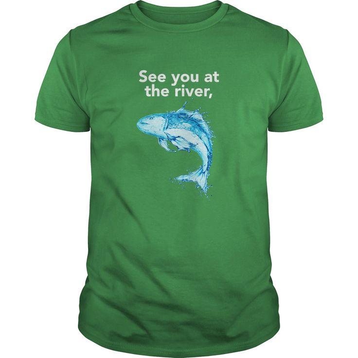 See You At the River, Fish - Poker Shirt