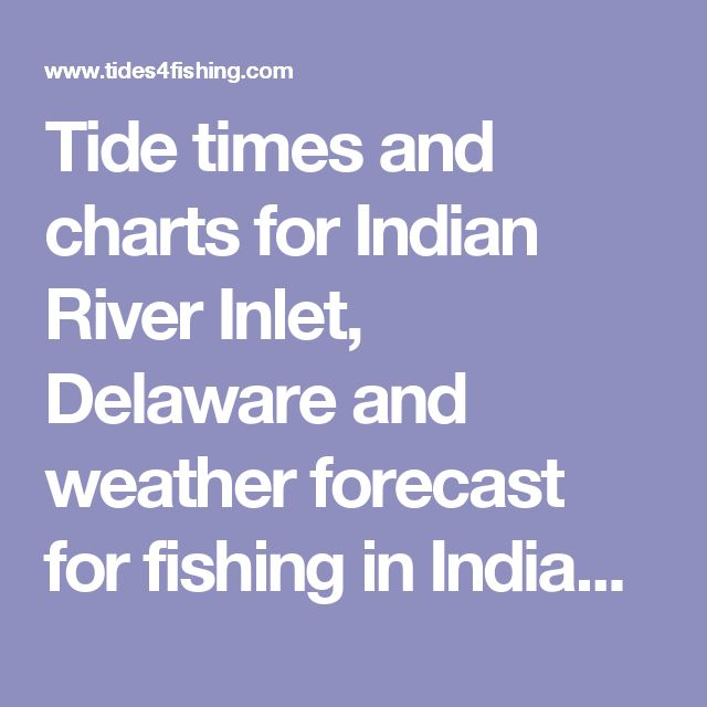 Tide Times And Charts For Indian River Inlet Delaware Weather Forecast Fishing In 2017