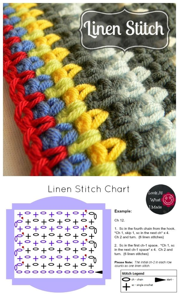 How to hook the linen stitch