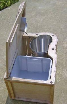Fabrication maison d'un WC sec