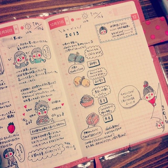 Cheeks.  Nice grid spacing - Blocks of text with small doodles.