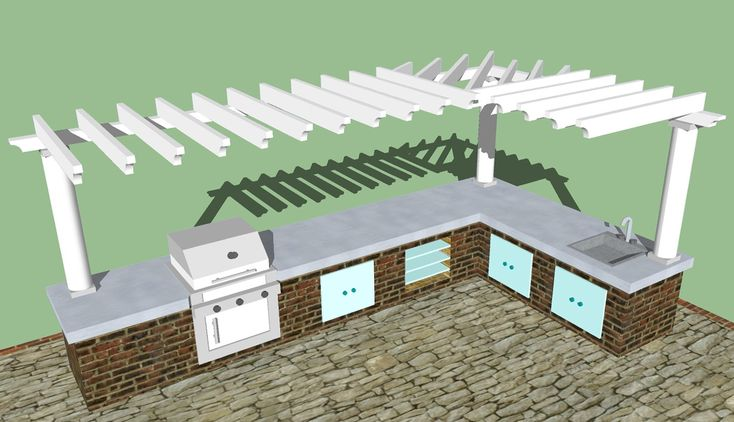 Image result for Free Plans Building Outdoor Kitchen