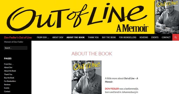 A link to Dov's website dedicated to his memoir OUT OF LINE