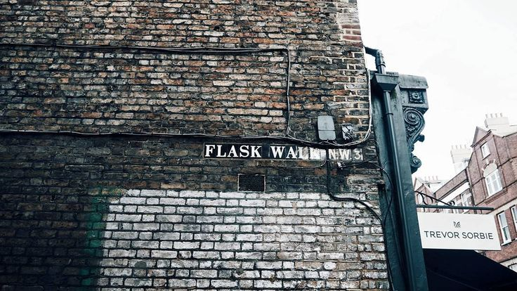 "120 Likes, 4 Comments - Gabriella Buzas (@epicstreetstyle) on Instagram: ""Brick walls for daysss 🔳🔳🔳 . ."" bricks brickwall street alley london hampstead architecture lovelondon"