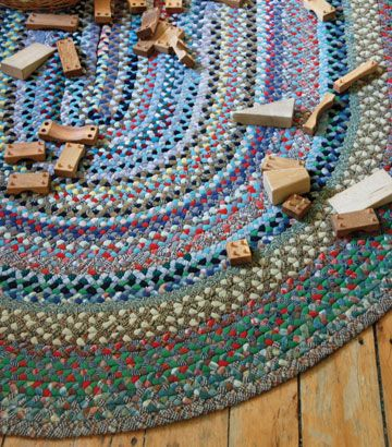 braided rag rug from handmade home