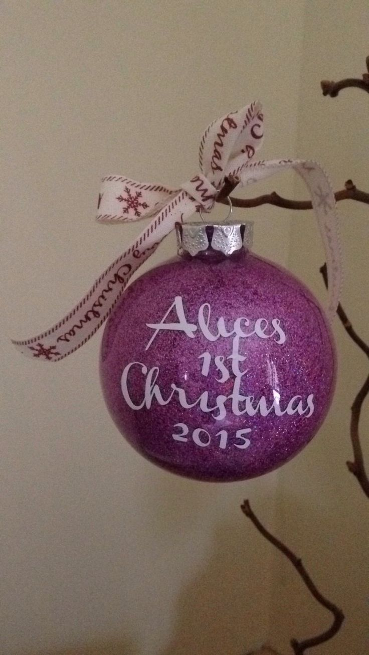 A personal favourite from my Etsy shop https://www.etsy.com/uk/listing/255813786/personalised-christmas-bauble