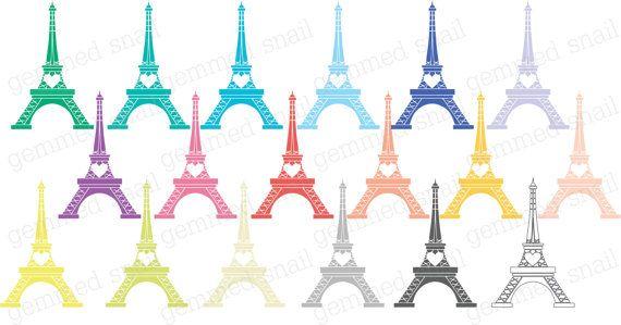 Eiffel Tower clipart 18 Eiffel Tower digital images by GemmedSnail  https://www.etsy.com/listing/181180184/eiffel-tower-clipart-18-eiffel-tower?ref=shop_home_active_2
