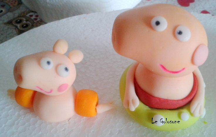 Sugar paste Peppa Pig by Le Golosone Torte