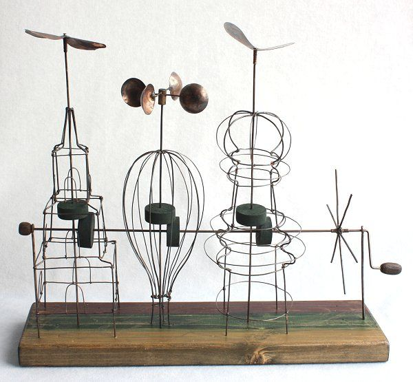 kinetic wire sculpture  You can see this machine working…