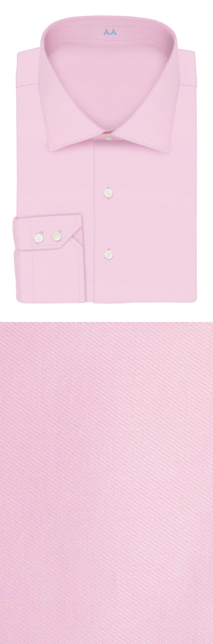 2016 new arriving 100% cotton light pink with cutaway collar and two button cuff slim fit custom made dress shirt
