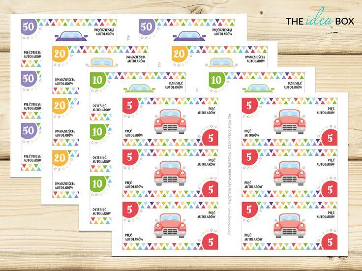 Zestaw specjalnej waluty samochodowej - autolarów - do wykorzystania w trakcie jazdy autem z dziećmi. Co można z nimi zrobić? Zajrzyjcie do nas na bloga!