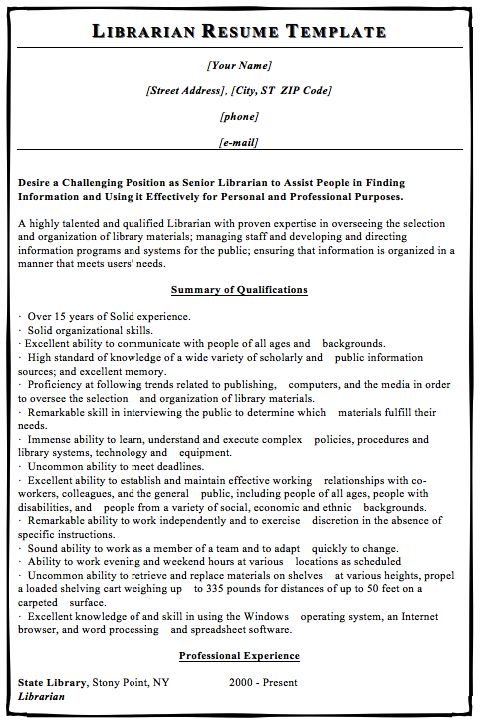 Resume For A Librarian In An Academic Setting Susan Ireland