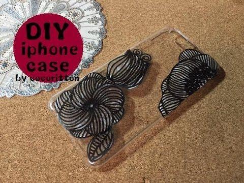DIY iphone case デコナップ★紙ナプキンでデコるスマホケース 作り方 - YouTube
