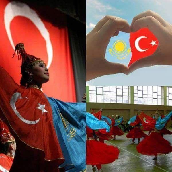 Biz dost değiliz kardeşiz  İleri Türkiye, İleri Kazakistan   Біз дос емеспіз бауырмыз  Алға Қазақстан, Алға Түркия