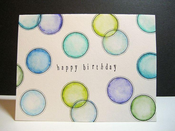 Watercolor circels card