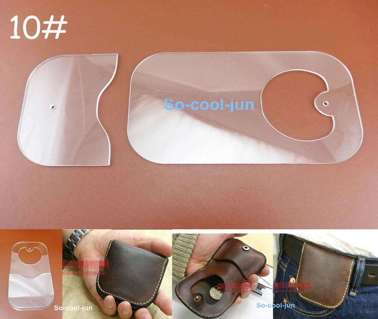 2pcs Leather Craft Acrylic Perspex Coin PursePattern Stencil Template Tool Set | eBay