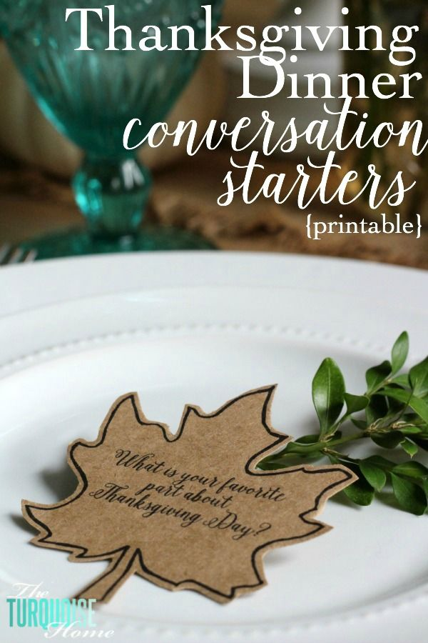 This is such a simple thing to add to your Thanksgiving dinner, but I think it will be one of the most meaningful. I will be using these conversation starters with my family for the first time this year and I hope it will be a great way to get some good conversations going. Maybe …