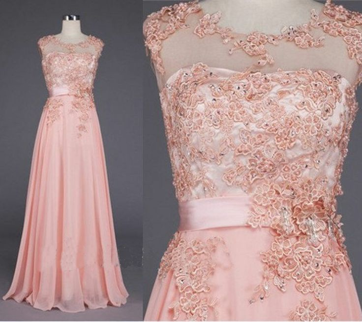 Long Sleeveless Applique Wedding Gown Prom Ball Evening Bridesmaid Dress Custom