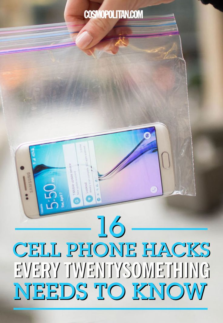 16 life-changing cell phone hacks, just in time for music festival season.