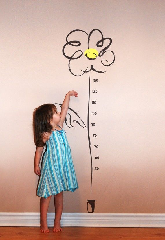 Charming Little Daisy - growth chart Wall Decals